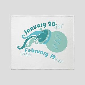 Aquarius Dates Throw Blanket