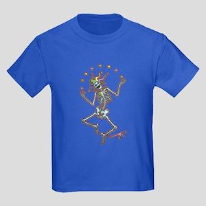 Juggling Jester Skeleton II Kids Dark T-Shirt