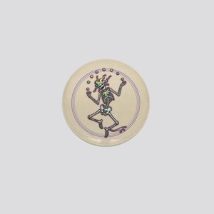 Juggling Jester Skeleton II Mini Button