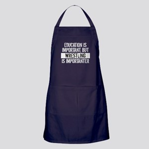 Wrestling Is Importanter Apron (dark)