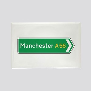 Manchester Roadmarker, UK Rectangle Magnet