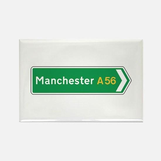 Manchester Roadmarker, UK Rectangle Magnet