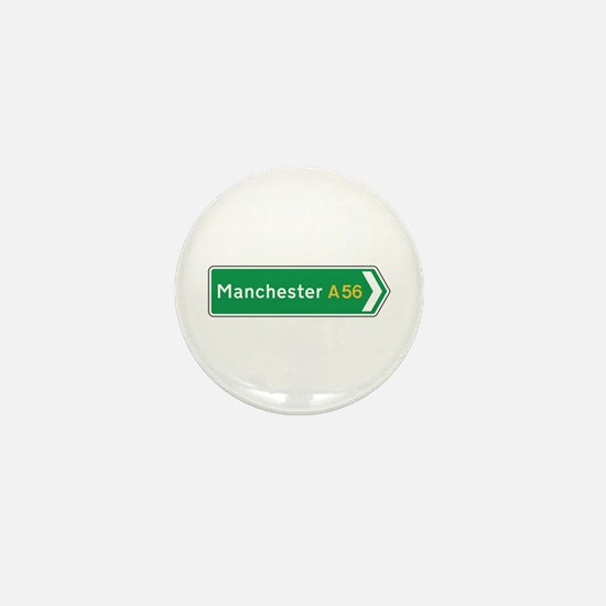Manchester Roadmarker, UK Mini Button