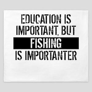 Fishing Is Importanter King Duvet