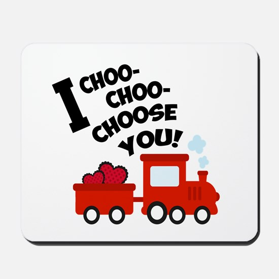 Choo-Choo Valentine Train Mousepad