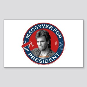 MacGyver For President Sticker (Rectangle)