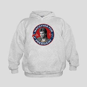 MacGyver For President Kids Hoodie