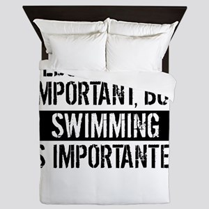 Swimming Is Importanter Queen Duvet