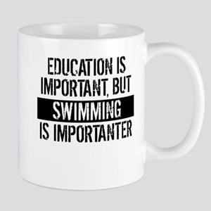 Swimming Is Importanter Mugs
