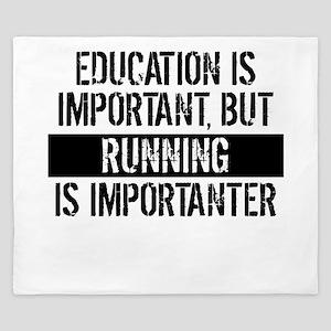 Running Is Importanter King Duvet