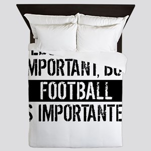 Football Is Importanter Queen Duvet