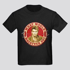 What Would MacGyver Do? Kids Dark T-Shirt