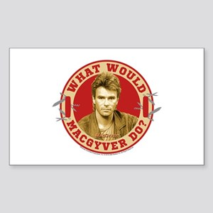 What Would MacGyver Do? Sticker (Rectangle)
