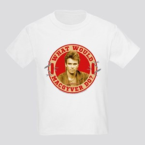 What Would MacGyver Do? Kids Light T-Shirt