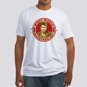 What Would MacGyver Do? Fitted T-Shirt