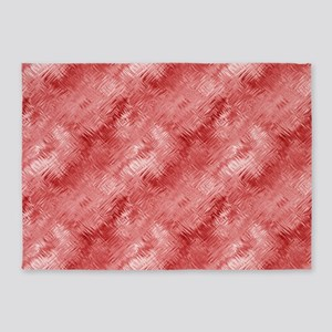 Red Glass Pattern 5'x7'Area Rug