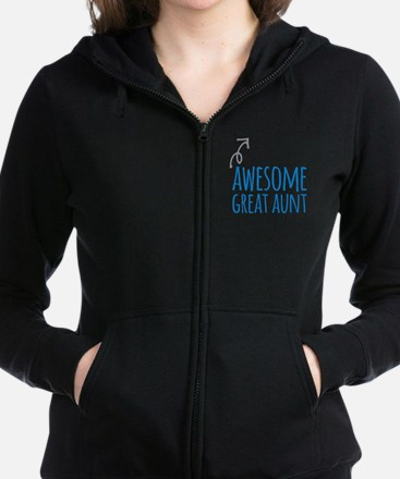 Awesome Great Aunt Women's Zip Hoodie