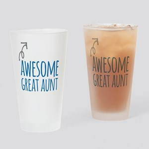Awesome Great Aunt Drinking Glass