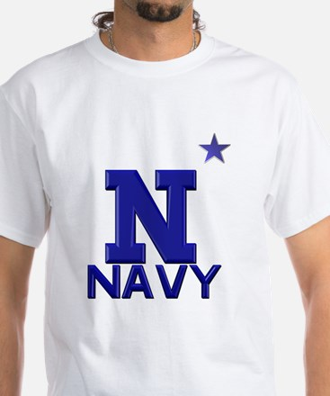 US Naval Academy White T-Shirt