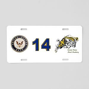 USNA Rampaging Goat Aluminum License Plate