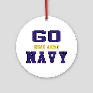 US Naval Academy Ornament (Round)