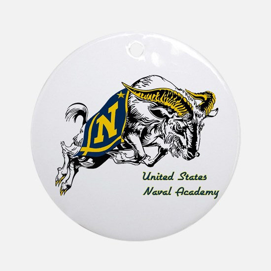 USNA Logo Ornament (Round)