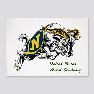 USNA Rampaging Goat 5'x7'Area Rug