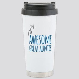 Awesome Great Auntie Stainless Steel Travel Mug