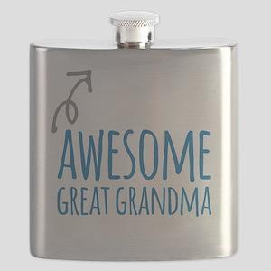 Awesome Great Grandma Flask