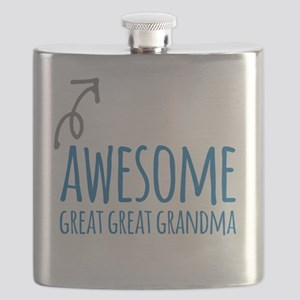 Awesome Great Great Grandma Flask