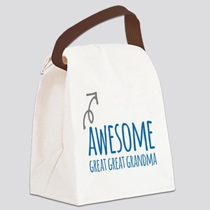 Awesome Great Great Grandma Canvas Lunch Bag