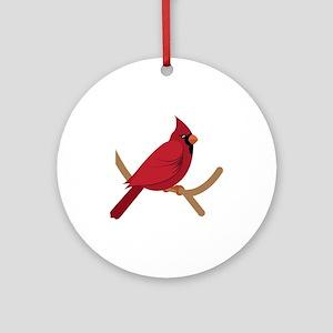 Cardinal Round Ornament