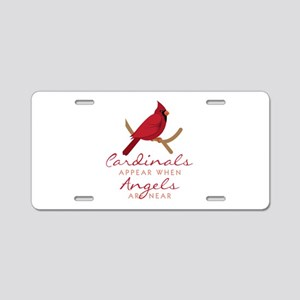 Cardinals Appear Aluminum License Plate