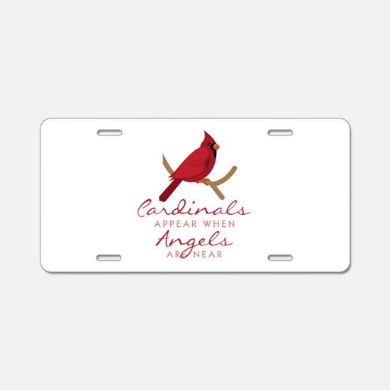 Cardinals Appear Aluminum License Plate