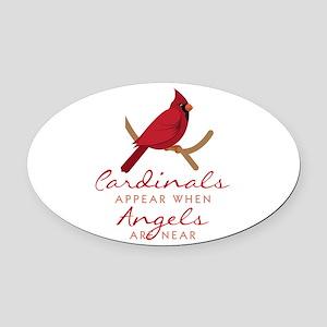 Cardinals Appear Oval Car Magnet