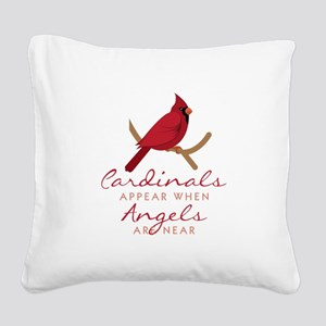 Cardinals Appear Square Canvas Pillow