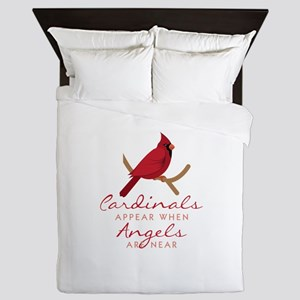 Cardinals Appear Queen Duvet