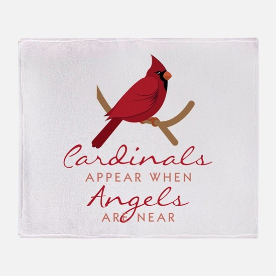 Cardinals Appear Throw Blanket