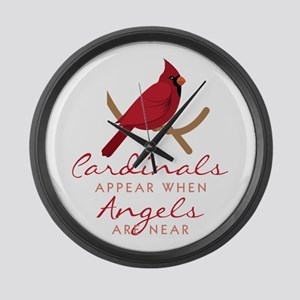 Cardinals Appear Large Wall Clock