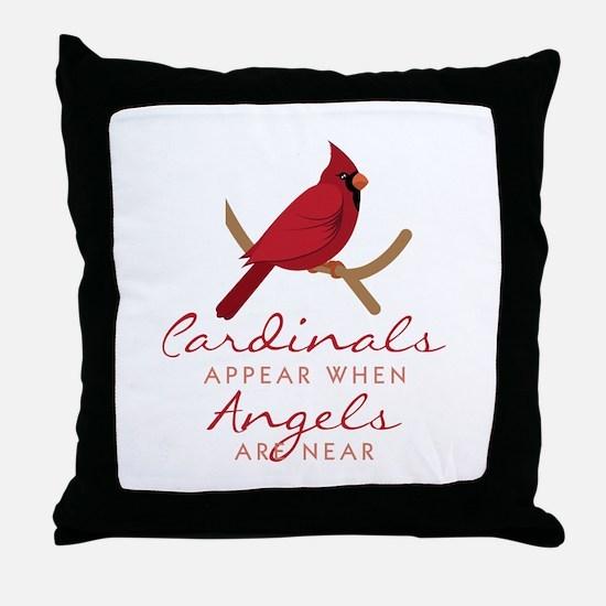 Cardinals Appear Throw Pillow