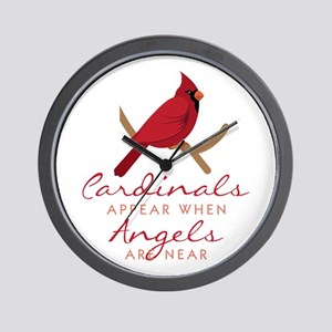 Cardinals Appear Wall Clock