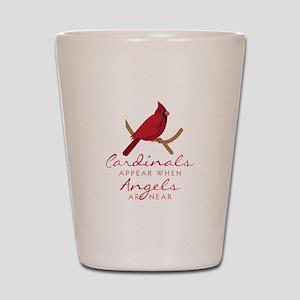 Cardinals Appear Shot Glass