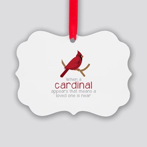 When Cardinal Appears Ornament