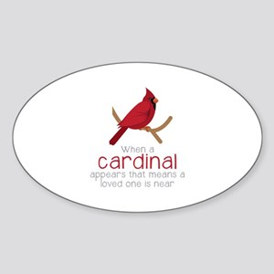 When Cardinal Appears Sticker