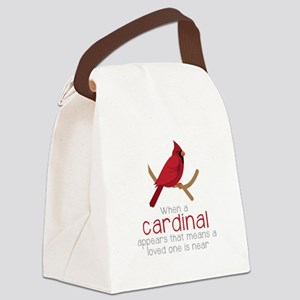 When Cardinal Appears Canvas Lunch Bag