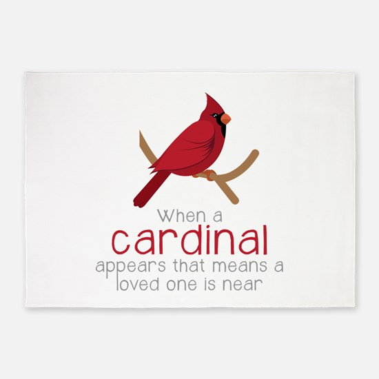 When Cardinal Appears 5'x7'Area Rug