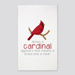 When Cardinal Appears Area Rug