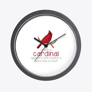 When Cardinal Appears Wall Clock
