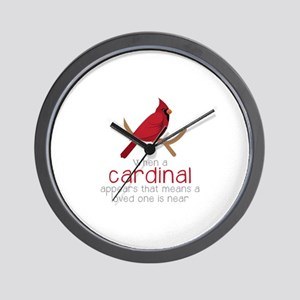When Cardinal Appears Wall Clock