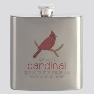 When Cardinal Appears Flask